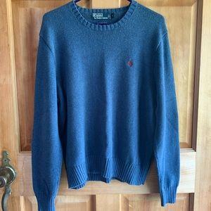 POLO RALPH LAUREN Blue Crew Knit Sweater
